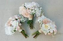 wedding photo - Bridesmaid Bouquet, Wedding Bouquet, Bouquet Set, Silk Flower Bouquet, Wedding Flowers, Silk Bouquet, Wedding Package, Flower Bouquet