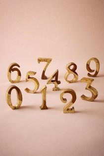 wedding photo - Wedding Table Numbers