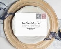 wedding photo - Envelope Template, Wedding Envelope Template, Stationery Envelope Template, Editable Stationery, RSVP Envelope, Wedding Invitations, WSET2