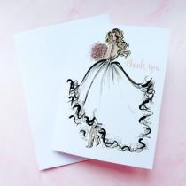 wedding photo - Bridal Shower Thank You Cards - Thank You from the Future Mrs, Wedding Thank You Cards - Bridal Shower Thank You Notes - Set of 10 Notecards