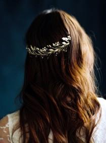 wedding photo - Bridal Hair Wreath, Bridal Crown, Gold Crown, Orange Blossom Crown -Style 3716