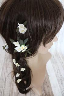 wedding photo - Flower Hair Pins - Calla