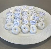 wedding photo - Donut Ring Toppers; Bachelorette Party; Bridal Shower; Engagement Party; Wedding