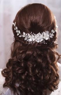 wedding photo - Bridal Hair Piece Bridal Headband Wedding Head Band Bridal Hairpiece Bridal Headpiece Wedding Head Piece Pearl Hair Piece Bridal Hair Vine
