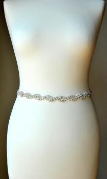 wedding photo - Bridal Belt Sash Rhinestone Belt Sash Flower Girl Bridesmaid Gift Sash belt Crystal Dress Sash Belt