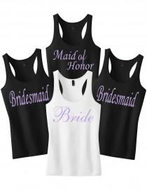 wedding photo - Bridesmaid Shirts.Wedding Shirts.Bridesmaid Gift.Bridal Party Shirts.Bride Shirt.Maid of Honor.Bridesmaid Shirts.Mother of the Bride Tank