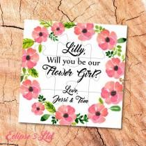 wedding photo - Will You Be my Flower girl gift Puzzle proposal Flower girl Will You Be our Flower girl puzzle Ask Flower Girl jigsaw be  Flower girl card