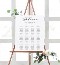 wedding photo - Editable Template - Instant Download Soft Calligraphy Guest Seating Chart