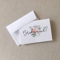 wedding photo - Will You Be My Bridesmaid? Card Set - Bridesmaid Card Set - Bridal Party Cards - Maid of Honor Card - Bridesmaid Gift Cards