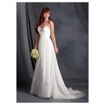 wedding photo - Charming Chiffon Sweetheart Neckline Empire Wedding Dresses with Beadings & Rhinestones - overpinks.com