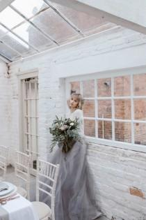 wedding photo - Subtle And Sophitsticated Pastel Wedding Shoot - Weddingomania