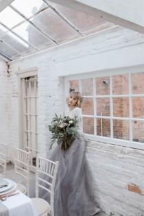 wedding photo - Subtle And Sophitsticated Pastel Wedding Shoot - Weddingomania