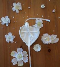 wedding photo - heart ring bearer box, ring pillow, wedding ring holder, lace box, heart shaped ring box, eco frinedly, Boho wedding inspired wedding.