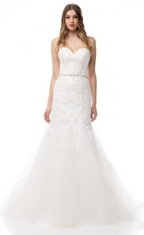 wedding photo - Strapless Sweetheart Mermaid Wedding Dress