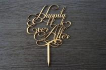 wedding photo - Wedding Cake Topper Decoration - Happily Ever After