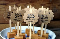 wedding photo - Wedding Cupcake Toppers - Personalized Cupcake Picks - Wedding Cupcake Picks - Rustic Cupcake Toppers