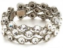 wedding photo - Ben-Amun Three Row Crystal Bracelet