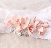 wedding photo - Bridal Flower Comb, Wedding Hair Piece, Bridal Hair Accessories, Floral Comb, Flower Jewelry
