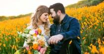 wedding photo - These Super Bloom Engagement Pics Look Like Something Out Of A Dream
