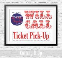 wedding photo - Baseball Will Call Sign, Escort Ticket Sign, Baseball Wedding Sign, Ticket Pick Up, Escort Card, Baseball Theme, Boston Red Sox, Will Call