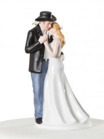 wedding photo - Old Fashion Lovin'  Western Cake Topper - Custom Painted Hair Color Available - 707561