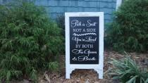 wedding photo - Pick A Seat, Not A Side, Sign Chalk Board Easel, Wedding Chalkboard Sign, Advertise, Store Front, Wedding sign, Chalk Board sign