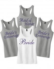 wedding photo - Bachelorette Tanks.Set of 7 Bridesmaid Tank Tops.Bridesmaid Shirts.Bridal Shirts.Wedding Shirts Bridesmaid tanks.Bridal Party Tank Tops Set