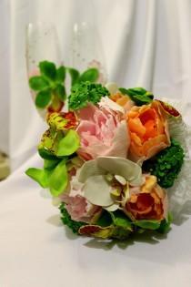 wedding photo - Wedding Bouquet, Wedding Flowers, Keepsake Bouquet, Bridal Bouquet tropical flowers, wedding bouquet, gift for bridal