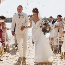 wedding photo - Lily / Beach wedding dress low back wedding dress open back wedding dress Alternative wedding dresses Bohemian wedding dress Plus size gown