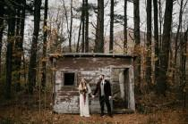 wedding photo - A Getaway Fall Wedding in the Catskills