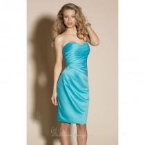 wedding photo - Strapless Ruched Satin Dress of Affairs by Mori Lee - Color Your Classy Wardrobe