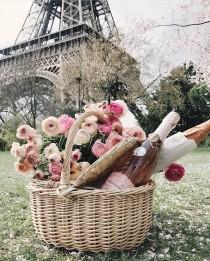 wedding photo - Perfect Parisian Picnic Basket, An Amazing Love Story, And Have A Lovely Weekend!