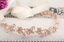 wedding photo - Wedding hair accessories,Wedding headband,Rose gold Bridal headband,Wedding hair vine,Bridal hair piece,Wedding headpiece,Bridal hair piece