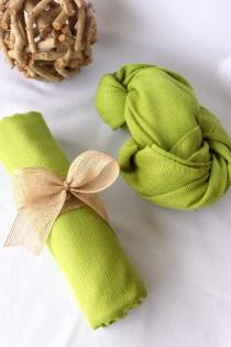 wedding photo - APPLE GREEN Wedding Pashmina decorated with burlap ribbon. Bridesmaid wraps. Scarfs