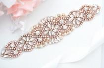 wedding photo - ROSE GOLD SALE Wedding Belt, Bridal Belt, Sash Belt, Crystal Rhinestones sash belt
