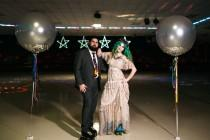wedding photo - This Roller Rink Elopement Will Totally Take You Back!