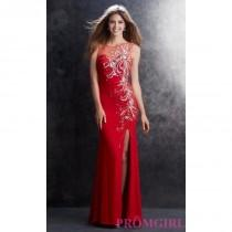 wedding photo - Floor Length Sleeveless Sheer Embellished Dress by James Madison - Brand Prom Dresses