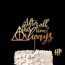 wedding photo - After all this time? Always - Harry Potter Wedding Cake Toppers, Deathly Hallows Keepsake Wedding Cake Topper