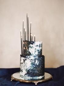 wedding photo - Starry Night Wedding Ideas In Indigo Blue