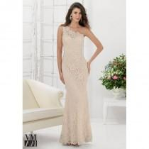 wedding photo - VM Collection 71115 One Shoulder Lace MOB Dress - Brand Prom Dresses