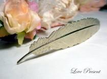 wedding photo - The Grand Feather barrette Antique Down art nouveau vintage style - Choose your color