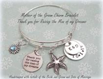 wedding photo - Wedding Gift for Mother of the Groom, Gift for New Mother in Law, Wedding Party Gift, Personalized Jewelry for Her, Beach Themed Wedding