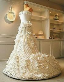 wedding photo - Wedding Dress Cake