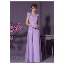 wedding photo - In Stock Elegant Composite Filament & Malay & Dense Net Bateau Neckline A-line Evening Dress - overpinks.com