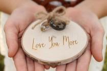 wedding photo - Maple Slice Ring Holder Rustic Wood Ring Holder Ring Bearer Pillow Alternative