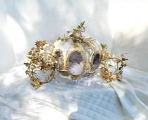 wedding photo - Fairy tale Cinderella  carriage  fairy tale  inspired Cinderella princess  gold carriage  for weddings, showers  match brooch bouquets ,