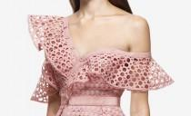 wedding photo - Self Portrait Lace Frill Mini Dress Pink