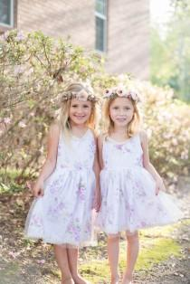 wedding photo - Monogrammed Girls Dress, Personalized Girls Dress, Flower Girl Dress, Flower Dress, Rustic Flower Girl, Vintage Flower Girl, Boho, Monogram