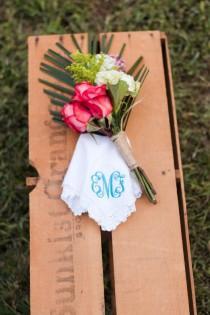 wedding photo - Monogrammed Handkerchief