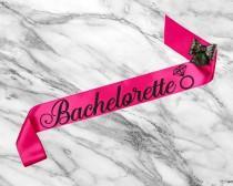 wedding photo - Bachelorette Sash, Bridal Shower Sash, Bride To Be Sash Bachelorette, Bride Sash, Custom Glitter Satin Sash
